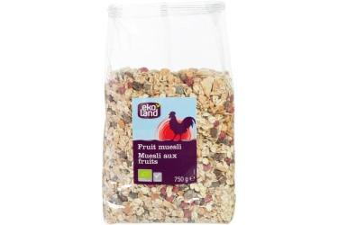 Biologische Muesli Fruit Voordeelverpakking (Ekoland, 6 x 750 gram)
