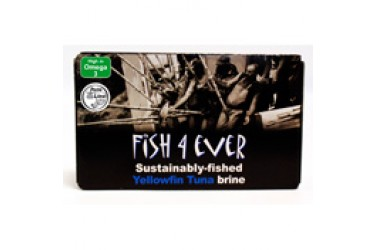 Geelvin-Tonijn in Water (Fish4Ever, 120 gram)