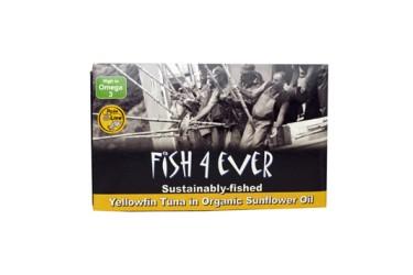 Geelvin-Tonijn in Zonnebloemolie (Fish4Ever, 120 gram)