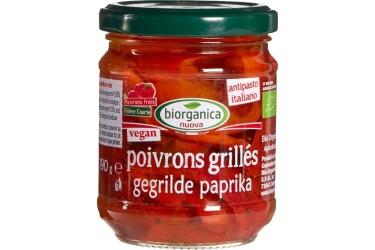 Biologische Gegrilde Paprika Voordeelverpakking (Biorganica Nuova, 6 x 190 gram)