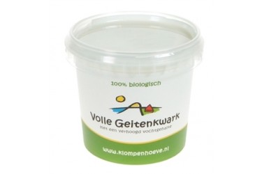Biologische Geitenkwark Vol (De Klompenhoeve, 350 gram)