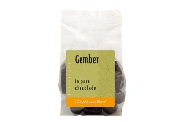 Biologische Gember in Pure Chocolade (De Nieuwe Band, 175 gram)