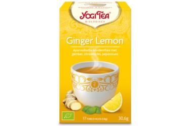 Biologische Ginger-Lemon Tea Voordeelverpakking  (Yogi, 6 x 17 zakjes)