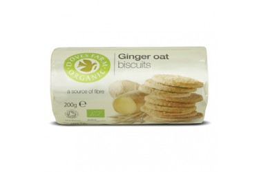 Biologische Biscuits Ginger Oats (Doves Farm, 200 gram)
