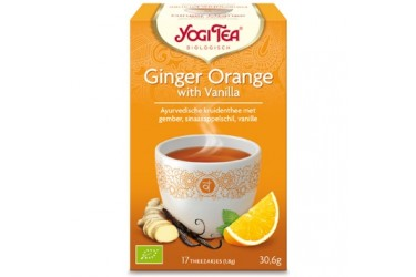 Biologische Thee Ginger Orange Vanilla (Yogi Tea, 17 builtjes) OP=OP