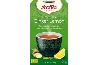 Biologische Groene Thee Ginger Voordeelverpakking (Yogi Tea , 6 x 17 zakjes)