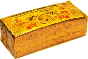 Biologische Volkoren Honingkoek gesneden (Bijenhof, 500 gram)