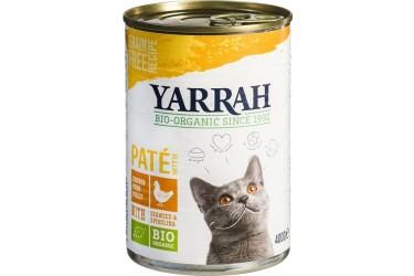 Biologische Pate Kip met Zeewier Kat Voordeelverpakking (Yarrah, 12 x 400 gram)