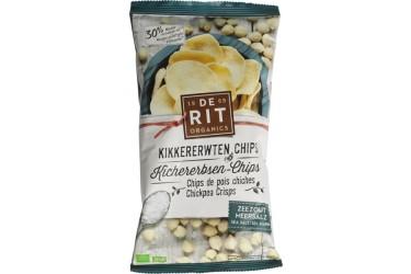 Biologische Kikkererwten Chips Zeezout Voordeelverpakking (De Rit, 8 x 75 gram)