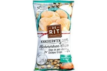 Biologische Kikkererwten Chips Sourcream Onion Voordeelverpakking (De Rit, 8 x 75 gram)