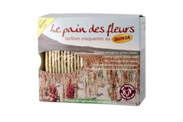 Biologisch Knäckebröt Quinoa Voordeelverpakking (Le Pain des Fleurs, 12 x 150 gram)