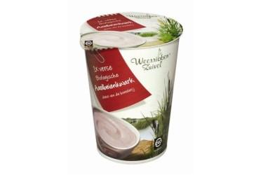 Biologische Aardbeienkwark (Weerribben Zuivel, 500 ml)