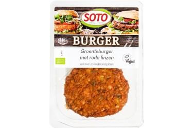 Biologische Groenteburger met Rode Linzen (Soto, 160 gram)
