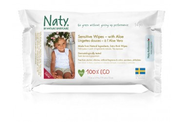 Naty Baby Doekjes Aloe Vera Voordeelverpakking (12 x 56 stuks)