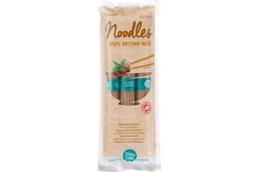 Biologische bruine Rijstnoodles Voordeelverpakking (TerraSana, 250 gram)