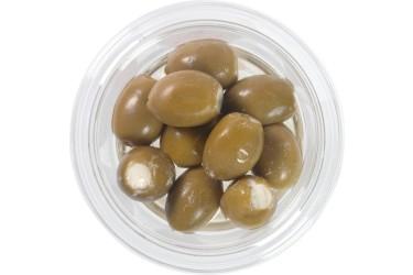 Biologische Groene Olijven gevuld met Roomkaas (Marqt, 120 gram)
