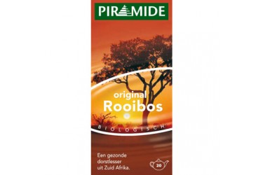 Biologische Thee Original Rooibos Voordeelverpakking (Piramide, 20 builtjes)