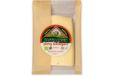 Biologische Plakjes Jong Belegen Kaas (Bastiaansen, 150 gram)