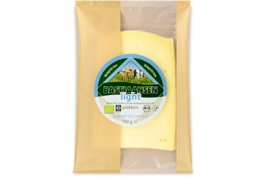 Biologische Plakjes kaas light 30+ (Bastiaansen, 150 gram)