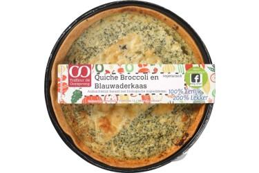 Biologische Quiche Broccoli en Blauwaderkaas (Oorsprong, 350 gram)