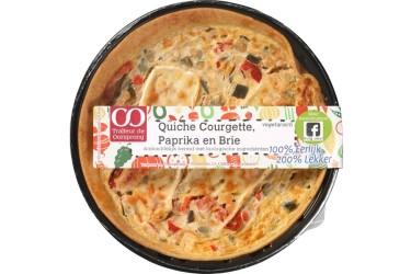 Biologische Quiche Courgette, Paprika en Brie (Oorsprong, 350 gram)