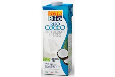 Biologische Rijstdrink Kokosnoot grootverpakking (Isola Bio, 6 x 1 liter)
