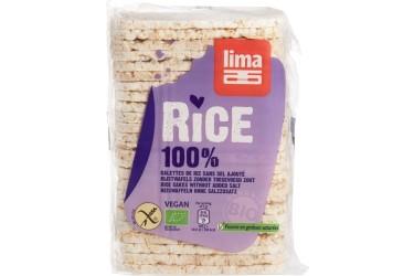 Biologische Rijstwafels zonder Zout (Lima, 130 gram) OP=OP