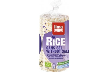 Biologische Rijstwafels Zoutarm Voordeelverpakking (Lima, 12 x 100 gram)