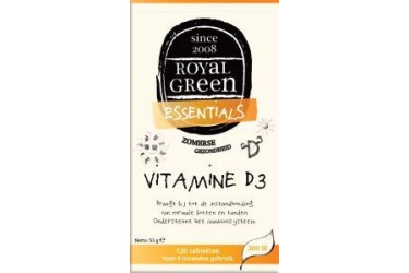 Vitamine D3 (Royal Green, 120 stuks)