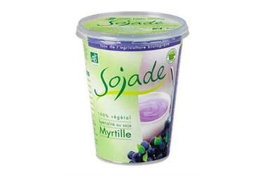 Biologische Soja Yoghurt Blauwe Bes (Sojade, 400 gram)