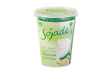 Biologische Soja Yoghurt Naturel (Sojade, 400 gram)