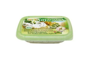 Biologische Vegan Roomkaas Kruiden-Knoflook (Soyananda, 140 gram)