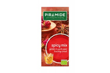 Biologische Thee Spicy Mix (Piramide, 20 builtjes)