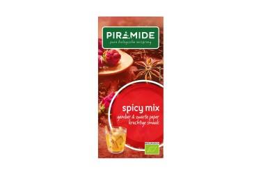 Biologische Thee Spicy Mix Voordeelverpakking (Piramide, 6 x 20 builtjes)