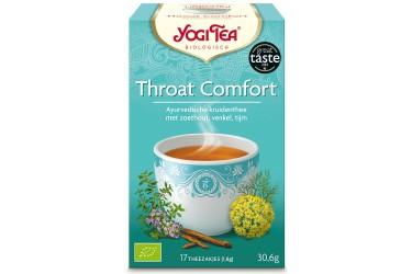 Biologische Thee Throat Comfort Voordeelverpakking (Yogi, 6 x 17 zakjes)
