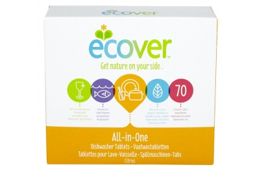 Vaatwasmachinetabletten All-In-One (Ecover, 40 stuks)