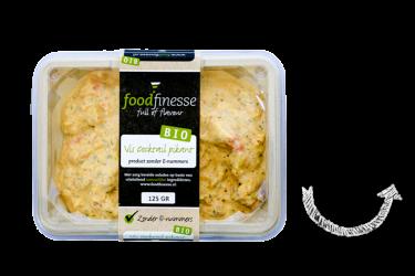 Biologische Vis Cocktail Pikant Salade (Foodfinesse, 125 gram)