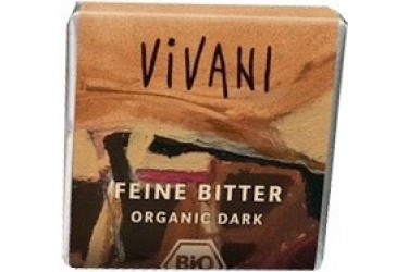 Biologische Chocolade Minibars Puur (Vivani, 40 x 12,5 gram)