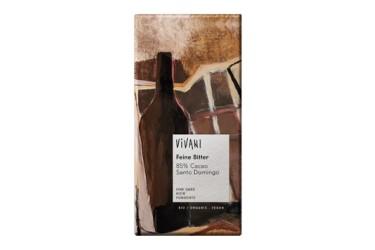 Biologische Chocoladetablet Puur 85% Voordeelverpakking (Vivani, 10 x 100 gram)