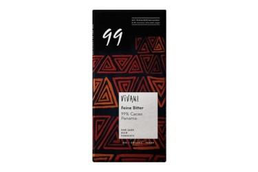 Biologische Chocoladetablet Puur 99% Voordeelverpakking (Vivani, 10 x 80 gram)