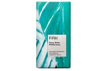 Biologische Chocoladetablet Puur Pepermunt Voordeelverpakking (Vivani, 10 x 100 gram)