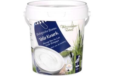 Biologische Kwark Vol emmer (Weerribben Zuivel, 800 ml)
