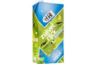 Biologische Volle Melk Houdbaar Voordeelverpakking (Zuivelrijck, 12 x 1 liter)