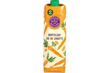 Biologisch Wortelsap Voordeelverpakking (Your Organic Nature, 6 x 1 liter)