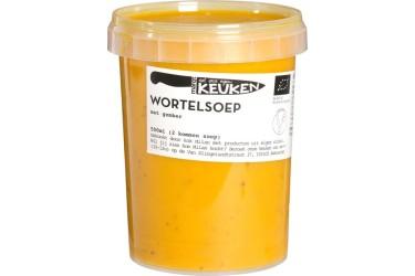 Biologische Wortelsoep met gember VERS (Marqt, 500 ml)