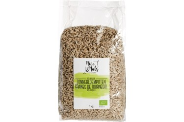 Biologische Zonnebloempitten Voordeelverpakking (Nice&Nuts, 6 x 1000 gram)