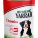 Biologische Brokjes Rund Kip met brandnetel & tomaten voor honden Blik (Yarrah, 400 gram)